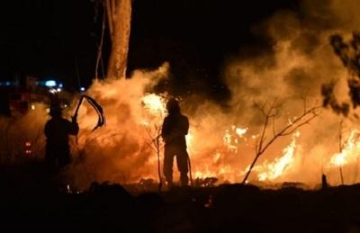 Controlan incendio de pastizal en Ypané