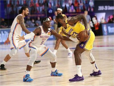 Thunder también ganan a Lakers