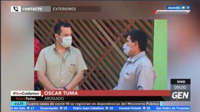 HOY / Oscar Tuma, representante legal de Hugo Alexander Torales, exsecretario de Rodolfo Friedmann