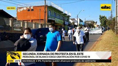 Segunda jornada de protestas en el Este