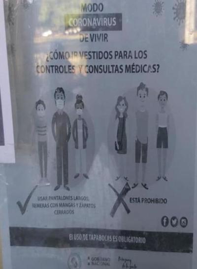 Modo COVID en IPS: ya no podrán entrar personas que usen short y musculosa