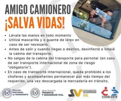 Entran y salen del país y están expuestos al COVID: lanzan campaña para camioneros