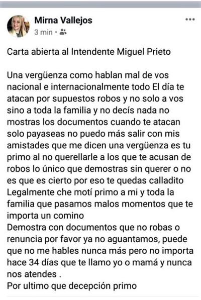 Miguel Prieto acusado de CORRUPTO es la VERGÜENZA de su familia