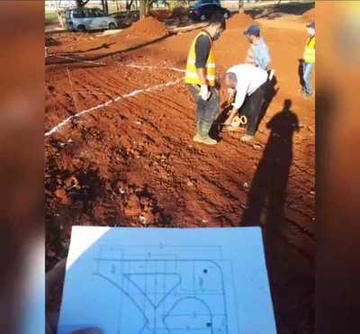 Avanzan obras en el Parque Independencia de Franco