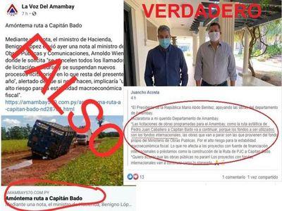 Otra falsa noticia de los perifoneros: Más otra mentira del Clan Acevedo en sus medios de comunicación.