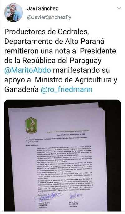 """""""Apoyo"""" a Friedmann sería montaje – Prensa 5"""