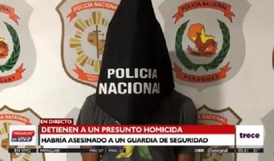 Detienen a sospechoso de asesinato de guardia de seguridad