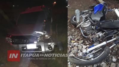 ACCIDENTE EN EL ACCESO PRINCIPAL DE ITA PASO DEJA MOTOCICLISTA LESIONADO
