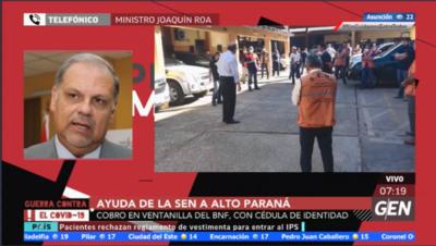 HOY / Joaquín Roa, ministro de Emergencia Nacional, sobre ayuda de la SEN a Alto Paraná