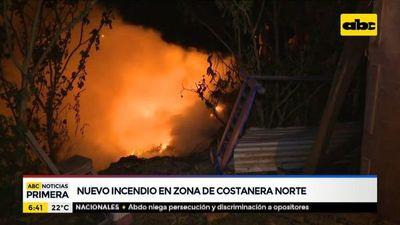 Nuevo incendio en la zona de la Costanera Norte