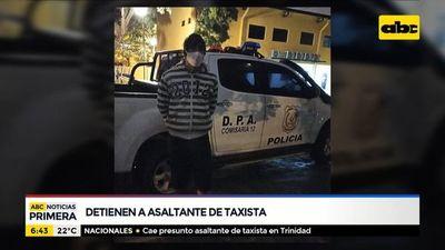 Detienen a asaltante de taxista limpeño