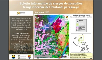 Con trabajo interinstitucional monitorean focos de incendios en el Pantanal Paraguayo