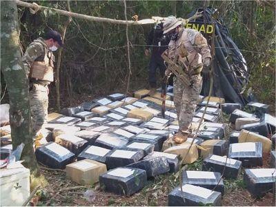 Capitán Bado: Incautan 2.850 kilos de marihuana tipo marroquí