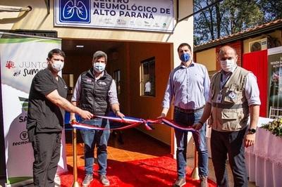 Con ayuda de empresa, inauguran centro de neumología en el este