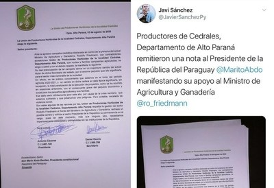 Firmantes falsos envían a Mario Abdo nota de apoyo a Friedmann