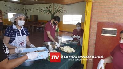 CORRECAMINATA SOLIDARIA OFRECIÓ COMILONA EN SAN ANTONIO YPECURU