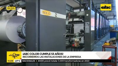 Recorremos la sala de máquinas del Diario ABC Color