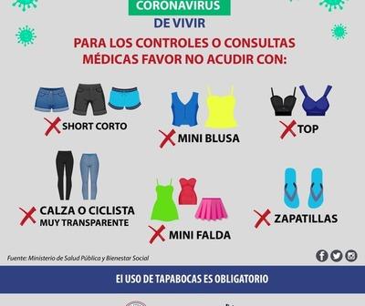 IPS no permitirá el ingreso de pacientes con ropa de verano