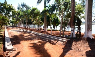 Avanzan obras en futura costanera de Ciudad del Este