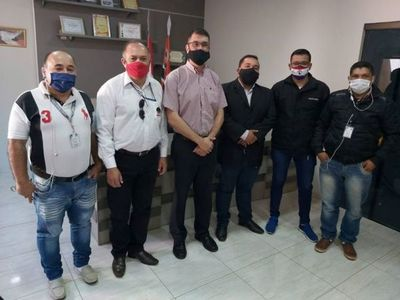 La Regional del  Sindicato de Periodistas del Paraguay  SPP fue a ponerse a disposición del Gobernador de Amambay