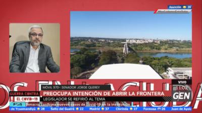 HOY / Jorge Querey dijo que es preocupante la intención del Gobierno de liberar nuevamente el Puente de la Amistad con el Brasil