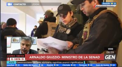 HOY / Arnaldo Giuzzio, ministro de la Senad, con el balance de gestión a dos años de gobierno de Mario Abdo