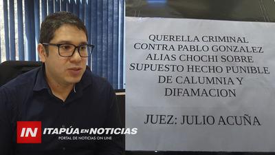CONCEJAL TRATÓ DE CORRUPTA A INTENDENTE Y ENFRENTARÁ QUERELLA