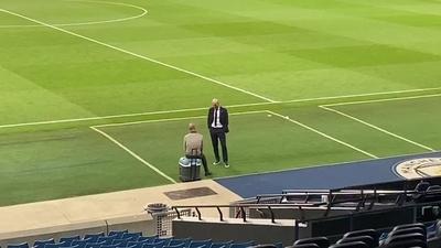 La charla entre Zidane y Guardiola tras el final del partido que está dando que hablar