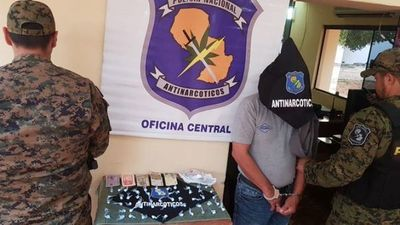 Distribuidor de cocaína fue detenido por Antinarcóticos en Asunción