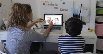 El 52% de los hogares del país tuvo clases virtuales