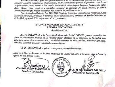 """Piden censar a """"limpiavidrios"""" en Ciudad del Este"""