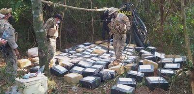 Incautan 2.850 kilos de marihuana tipo marroquí en Capitan Bado