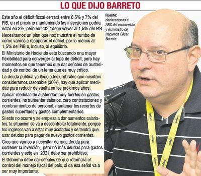 Exministro pide señales al Gobierno de que retomará el control del déficit
