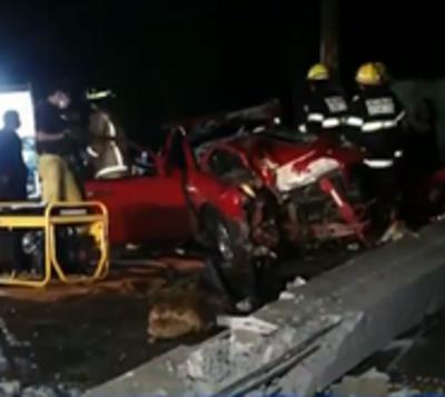 Alta velocidad provoca accidente en Asunción