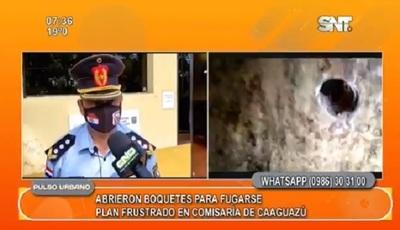 Reos de comisaría en Caaguazú abren boquetes para fugarse