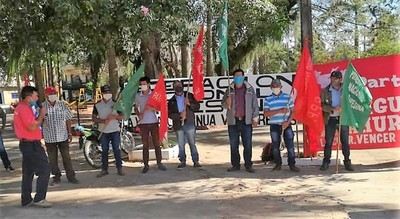 Manifestantes norteños afirman que la Reforma del Estado llevará a la quiebra al Paraguay