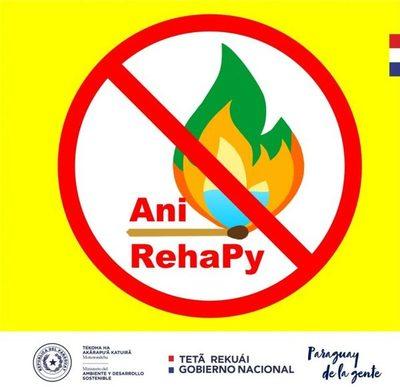 """Lanzan """"#AniRehaPy"""" campaña de sensibilización y prevención de incendios"""
