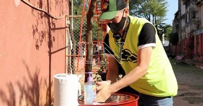 Lavamanos portátil: más cotidiano en Paraguay que en EEUU y Europa