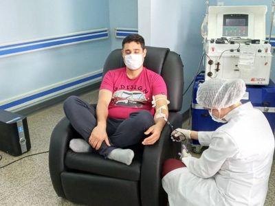 Registran primer donante de plasma convaleciente en Ciudad del Este