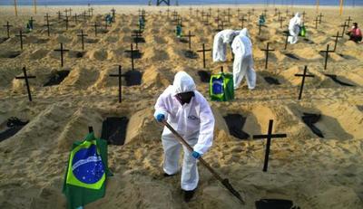 Brasil ya rebasó las 100.000 muertes por COVID-19