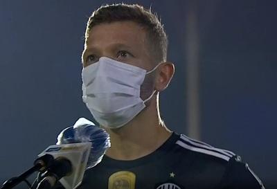 Nicolás Domingo, contento por su primer gol en Paraguay