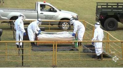 COVID-19: Presentaron equipo y protocolo de manejo de cadáveres