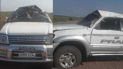Vuelco de vehículo en el trayecto Santa Rita-Yabebyry