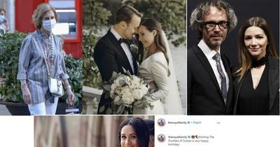 Una reina querida, una boda, Meghan recibió saludos por el cumple y la ex de Calamaro se casa