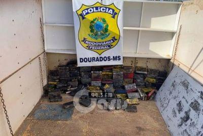 Más de 200 kilos de cocaína que salió de la frontera fue incautado en Dourados