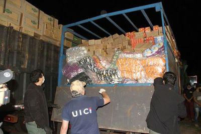Incautación de convoy de contrabando evidencia permeabilidad de fronteras