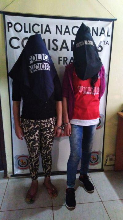Hurtaron en una vivienda y fueron detenidas con las evidencias