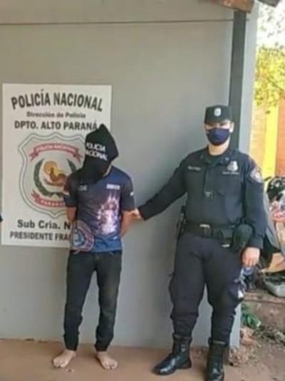 Capturan a presunto microtraficante en Franco