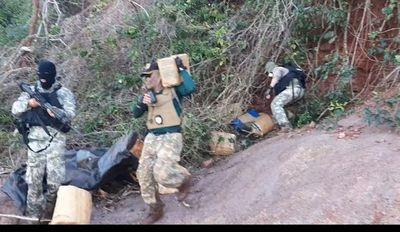 Incautan 154 kilos de marihuana prensada en Canindeyú