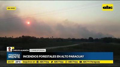 Incendios forestales en Alto Paraguay